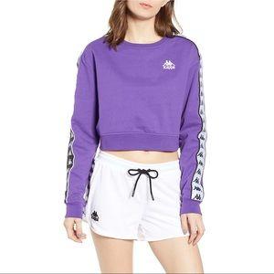 Kappa Active Authentic Logo Tape Crop Sweatshirt